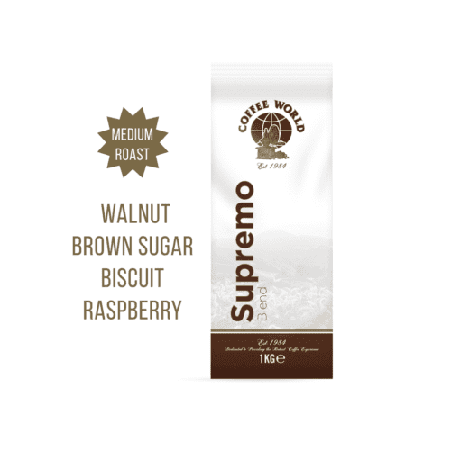 Supremo Blend - 1kg Coffee Beans - by Coffee World