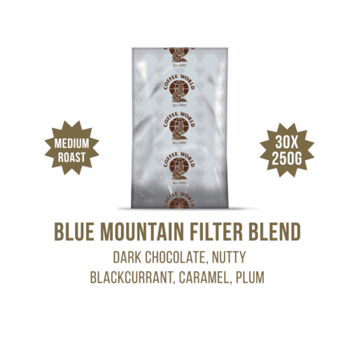 Blue Mountain Filter Blend 30x250g Coffee Sachets - by Coffee World