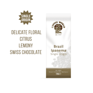 Brazil Ipanema Single Origin 1kg Coffee Beans - by Coffee World