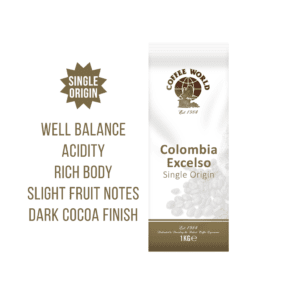 Colombia Excelso RFA Single Origin 1kg Coffee Beans - by Coffee World
