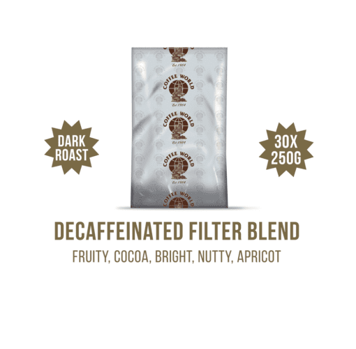 Decaffeinated Centrals MC Filter Blend 30x250g Coffee Sachets - by Coffee World