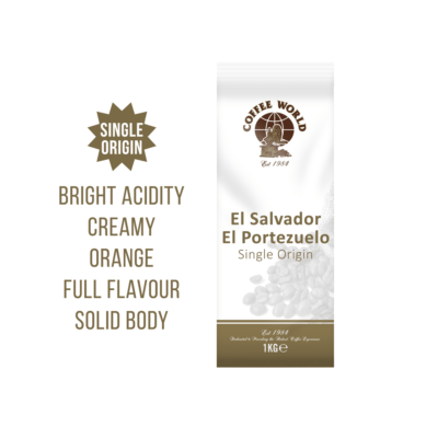 El Salvador RFA El Portezuelo Single Origin 1kg Coffee Beans - by Coffee World