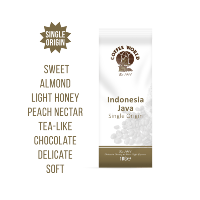 Indonesia Java Single Origin 1kg Coffee Beans - by Coffee World