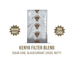 Kenya Filter Blend 30x250g Coffee Sachets - by Coffee World