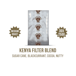 Kenya Filter Blend 30x250g Coffee Sachets - by Coffee World
