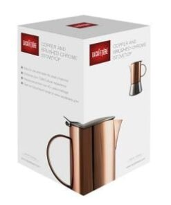 La Cafetiere 4 Cup Stainless Steel Copper & Brushed Stovetop Box