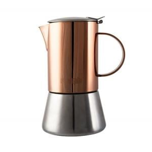 La Cafetiere 4 Cup Stainless Steel Copper & Brushed Stovetop