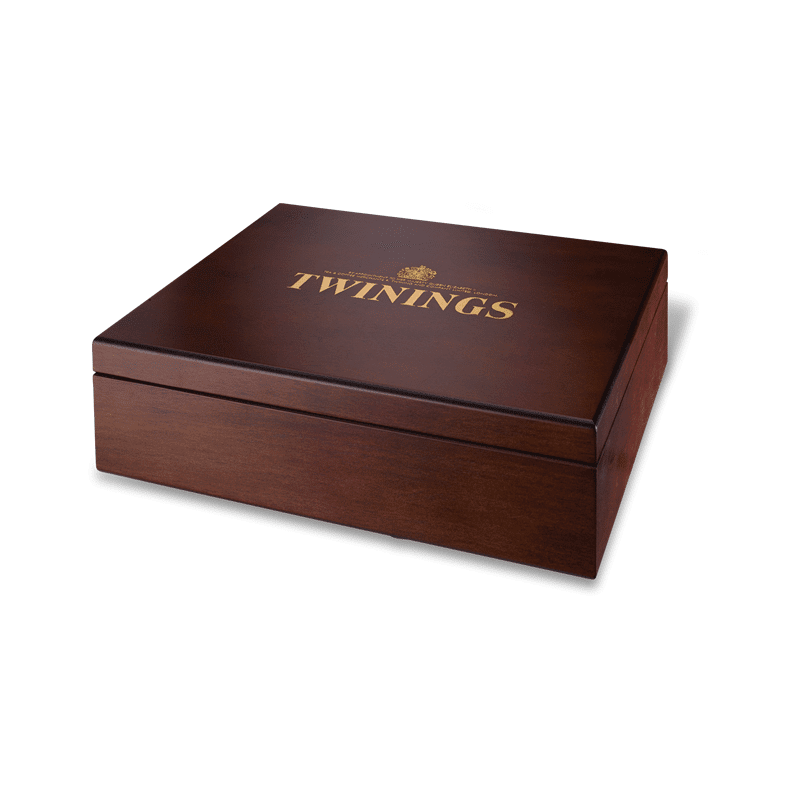 Twinings 12 Compartment Wooden Tea Box Shop Coffee