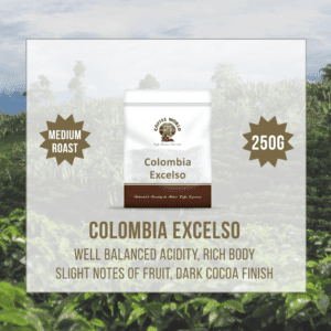 Colombia Excelso RFA Single Origin 250g Coffee Beans - by Coffee World