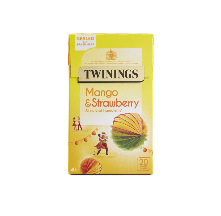 Twinings Mango & Strawberry - 4 x 20 Single Tea Bags (80)
