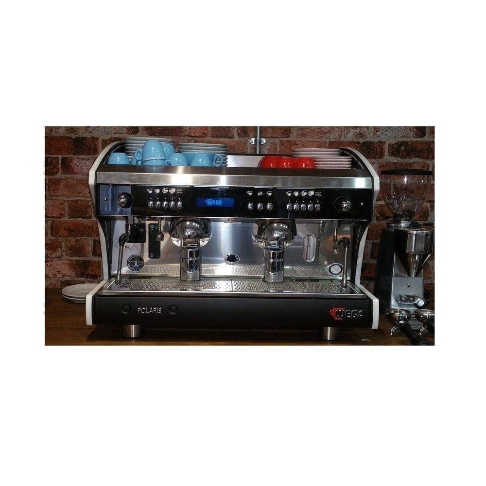 Coffee Maker Demonstrations : Wega Polaris 2 Group (New - Ex Showroom Demo Coffee Machine) in Black White Shop Coffee