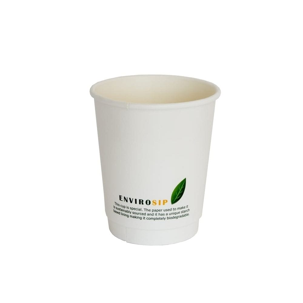 Envirosip Double Wall Biodegradable Paper Cups 8oz 500 Shop Coffee