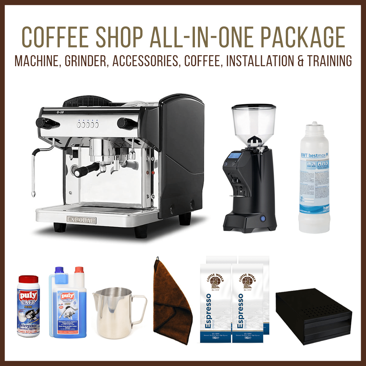 Expobar G10 1 Group Tall Espresso Machine Coffee Shop